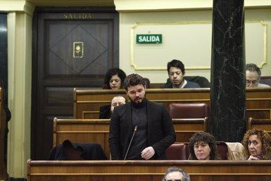 Rufián (ERC) assegura que Errejón és més valent defensant el referèndum que Fachin (EUROPA PRESS)