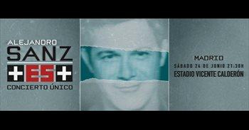 """Alejandro Sanz dará un concierto """"único e irrepetible"""" el 24 de junio en..."""
