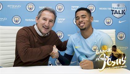 El Manchester City ya puede contar con el brasileño Gabriel Jesus