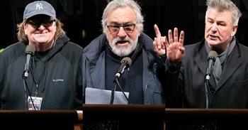 Robert De Niro, Michael Moore o Alec Baldwin abanderan una concentración...