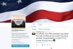 Trump desembarca al Twitter oficial de la Casa Blanca i de president dels EUA (TWITTER)
