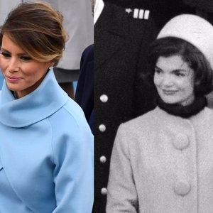 Melania Trump se inspira en Jackie Kennedy en su look en la toma de posesión