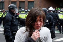 Gairebé cent detinguts pels aldarulls registrats durant la presa de possessió de Trump (REUTERS)