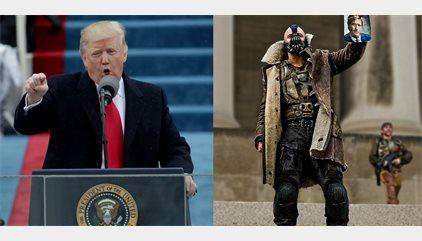 Donald Trump usa una frase de Bane, el villano de Batman, en su discurso inaugural