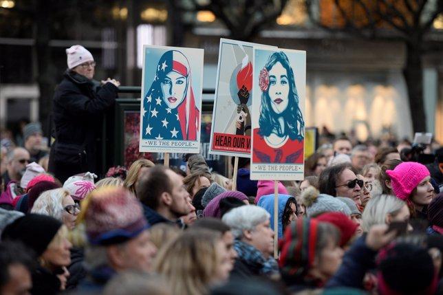 Marcha de mujeres contra Trump