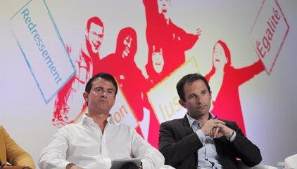 Hamon y Valls, claramente en cabeza en las primarias de la izquierda francesa