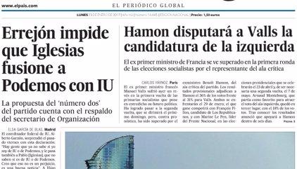 Las portadas de los periódicos de hoy, lunes 23 de enero de 2017