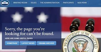 La Casa Blanca achaca a falta de tiempo el cierre de la web en español