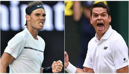 Nadal busca superar el duro obstáculo de Raonic y meterse en semifinales