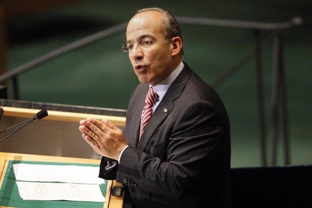 Felipe Calderón, en la ONU