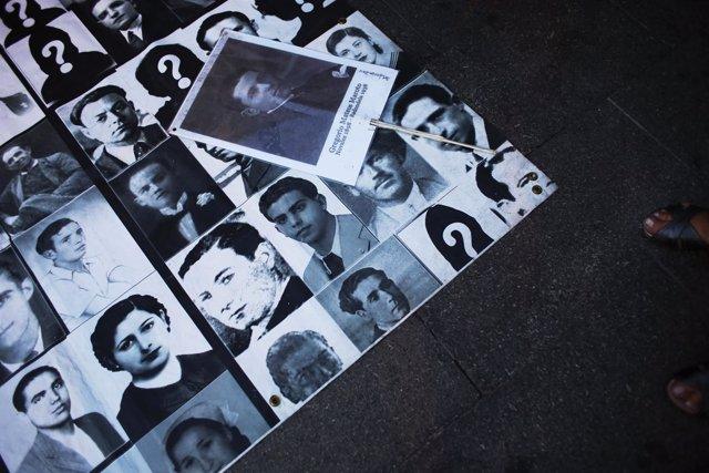 Fotografías de desaparecidos y asesinados durante la dictadura argentina