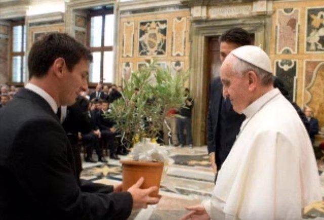 Messi y el papa Francisco