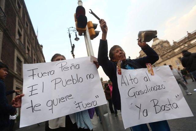 Protestas por el gasolinazo