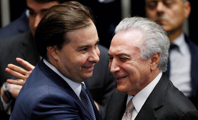 Rodrigo Maia y Michel Temer