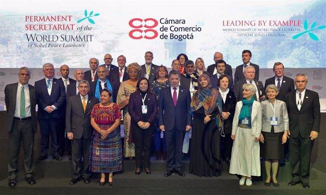 Cumbre de premios Nobel de la Paz en Colombia