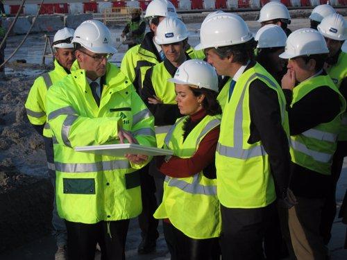 La vpta.S.S.Santamaría visita las obras de acceso al Aeropuerto de El Prat