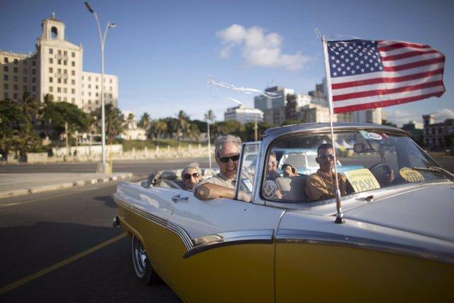 Turista estadounidense en cuba