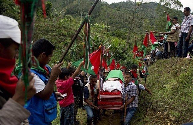 Dirigente indígena fallecido