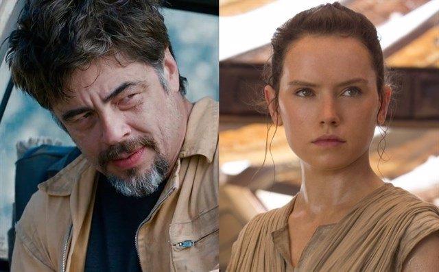 Benicio del Toro y Daisy Ridley