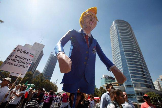 Manifestación contra Trump en Ciudad de México