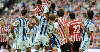 Real-Athletic igande eguerdian eta Osasuna-Eibar astelehenean