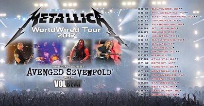 Metallica anuncia las primeras fechas de su WorldWired Tour 2017