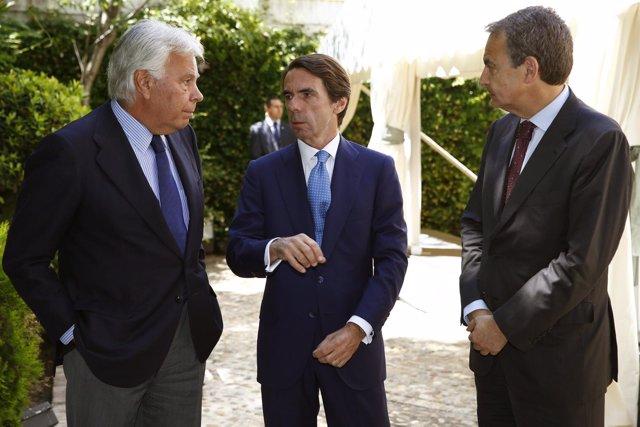 Felipe González, Aznar y Zapatero
