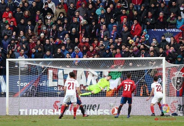 El Sadar en el partit Osasuna-Sevilla