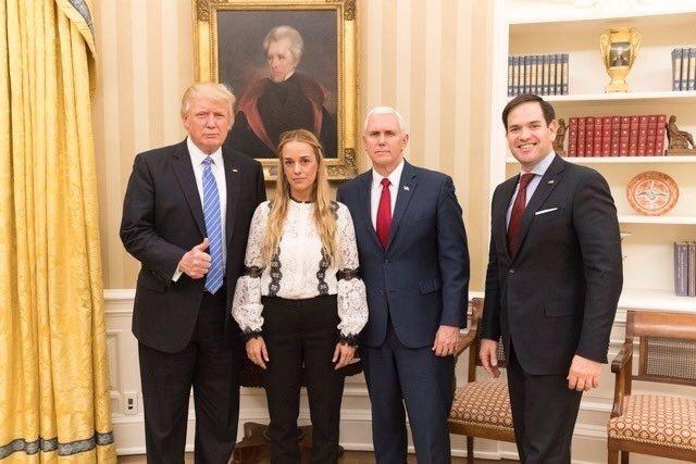 Donald Trump y Lilian Tintori