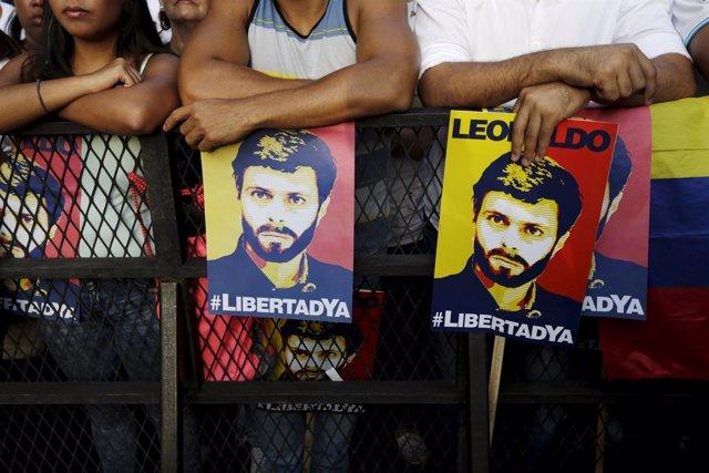 Manifestación en apoyo a Leopoldo López en Caracas