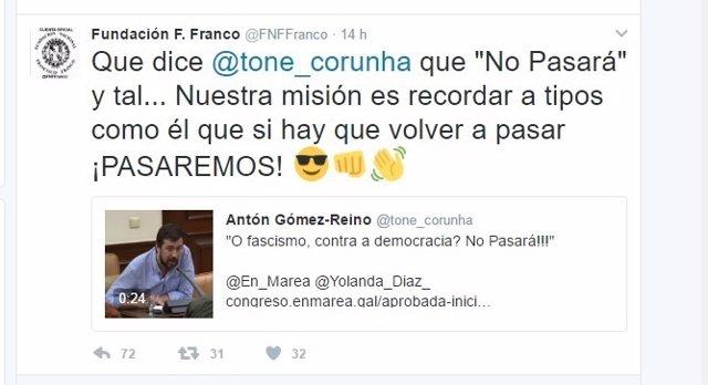 Tuit de la Fundación Francisco Franco