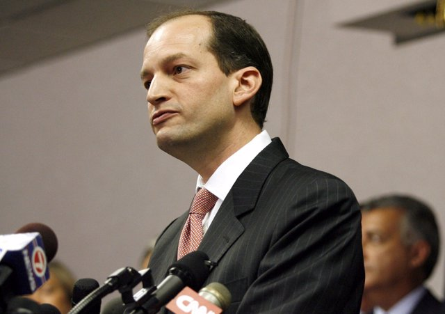 File Photo: U.S. Attorney R. Alexander Acosta holds a news conference  in Miami,