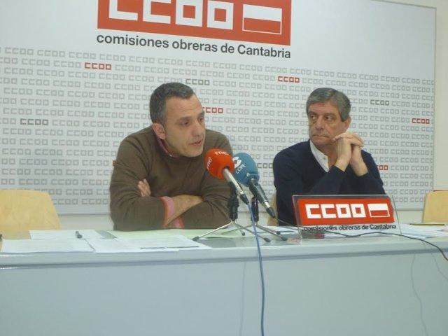 Carmona y García, de UGT y CCOO, en rueda de prensa
