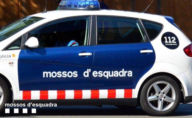 Un cotxe patrulla de Mossos d'Esquadra