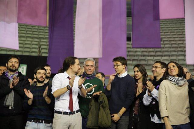 Iglesias, Errejón, Monedero y Montero en el Congreso de Vistalegre II