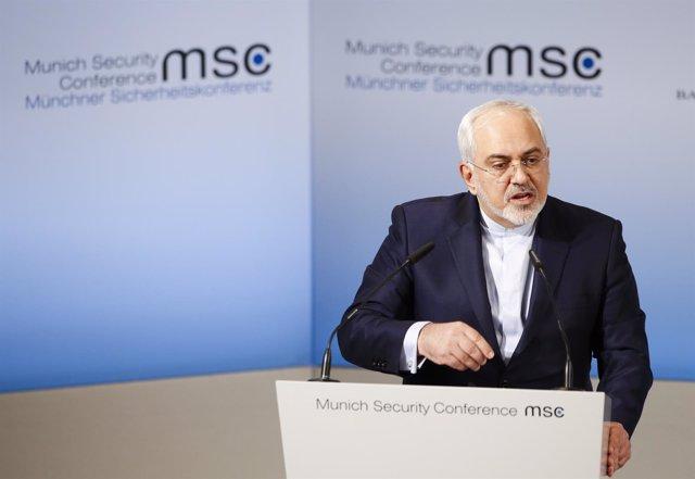 Mohammad Javad Zarif en la Conferencia de Seguridad de Múnich