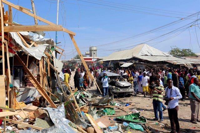 Atentado en Mogadiscio.