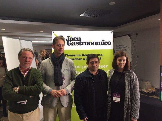Visita del presidente de Diputación de Jaén, Francisco Reyes, a 'Jaén Gourmet'
