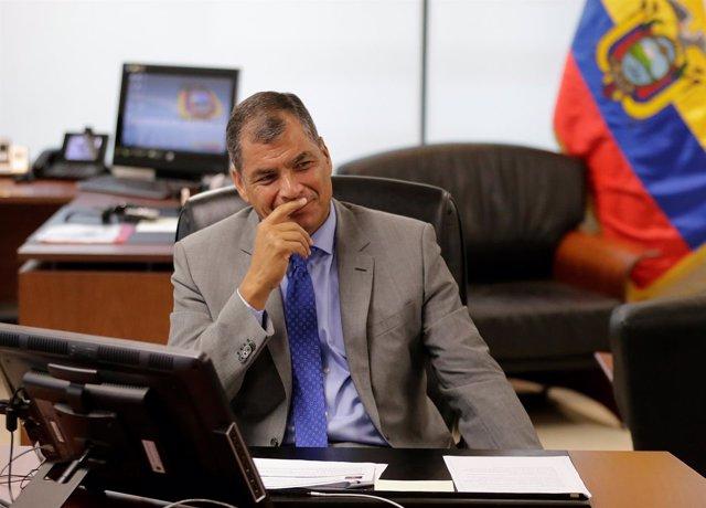 Rafael Correa, en las elecciones presidenciales