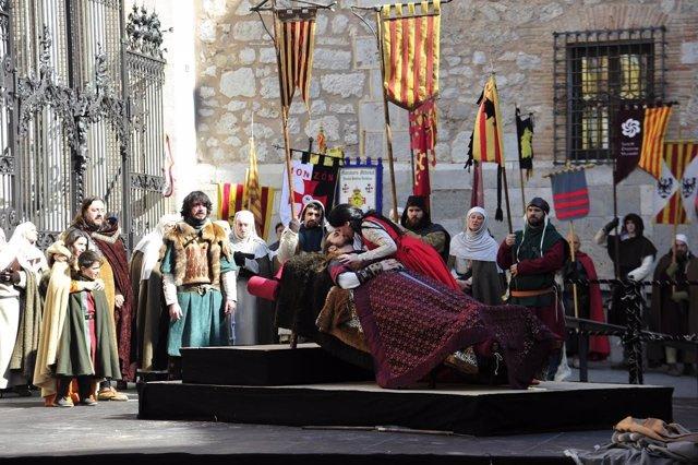 Final de la recreación de la Leyenda de los Amantes en Teruel.