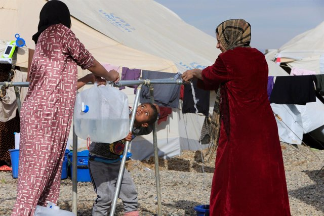 Mujeres desplazadas iraquíes