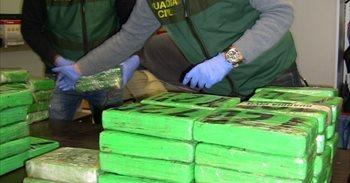 Intervenidos 166 kilos de cocaína en un trastero del Ensanche de Vallecas