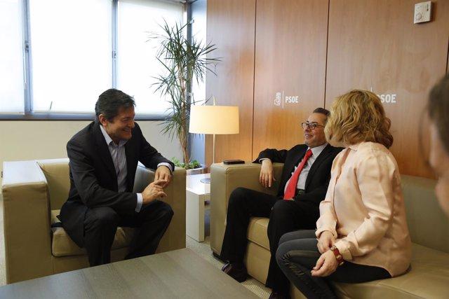 Javier Fernández se reúne con Gianni Pittella y Elena Valenciano