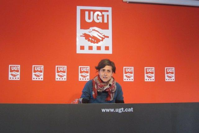 La Portavoz Nacional De Avalot-Joves De UGT De Catalunya, Elena Ferrero