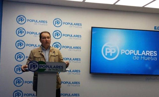 El secretario general del PP de Huelva y portavoz PP en Aljaraque David Toscano.