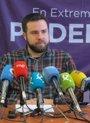 """Foto: Podemos Extremadura dice que """"no tendría problema en apoyar"""" la moción de censura en Badajoz con """"acuerdos"""" con el PSOE"""