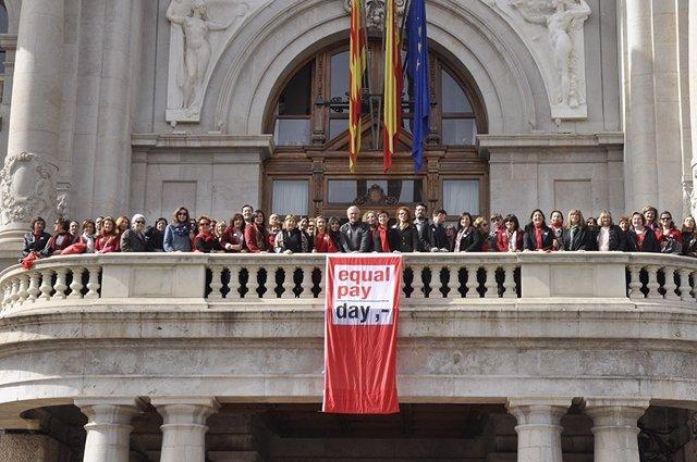 Revindicación igualdad salarial de EVAP en 2016 en Ayuntamiento Valencia