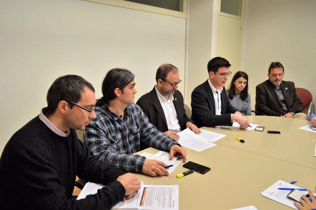 Concejales de ERC, CiU y Comú de Lleida