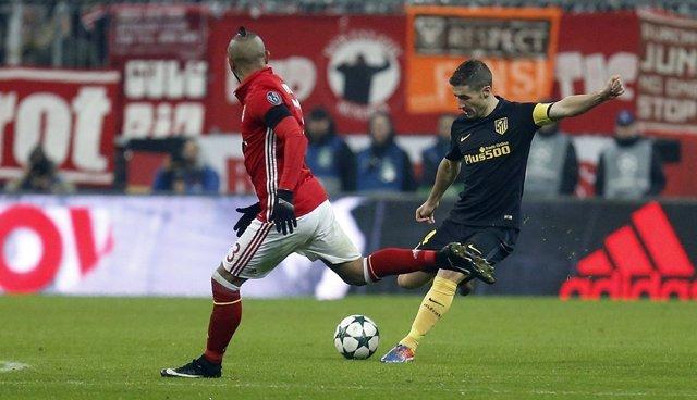 Gabi en el Bayern de Munich - Atlético de Madrid