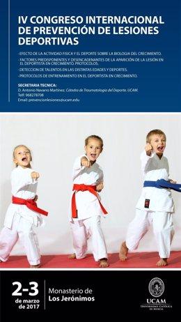 Cartel del  IV Congreso Internacional 'Prevención de Lesiones Deportivas'